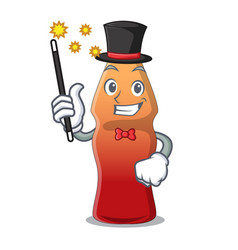 Magician cola bottle jelly candy mascot cartoon vector