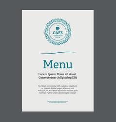 menu page design vector image