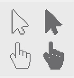 modern arrows and hands cursor icons vector image