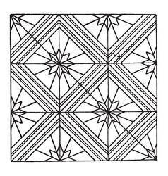 modern square panel is a parquetry design vintage vector image