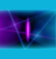 Neon 3d glow lights and flash effect vector
