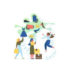 online shop flat style design vector image