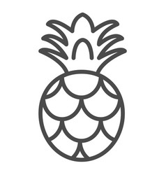 pineapple icon outlined food fruits vector image