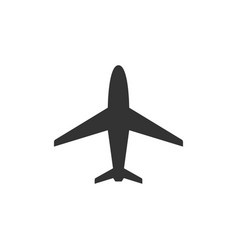 Plane glyph icon or aviation concept vector