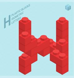 Plastic blocs letter h vector