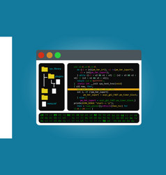 Program code editor integrated software vector