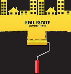 Roller real estate vector image
