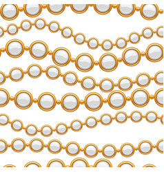 seamless pattern with golden chains vector image