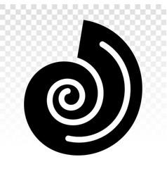 Seashells sea snail flat icon for apps vector