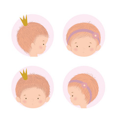 Set cute babies design vector