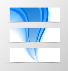 Set of banner blue smooth design vector image