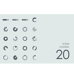 Set of loading icons vector image