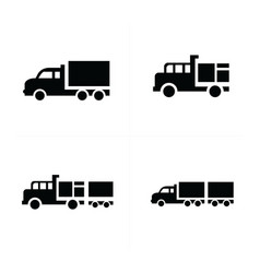 set truck and transport icons vector image
