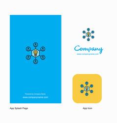 share idea company logo app icon and splash page vector image