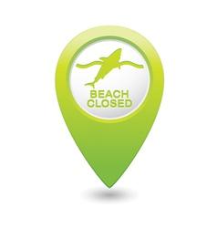 shark icon green map pointer vector image
