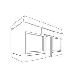 shop outline drawing vector image