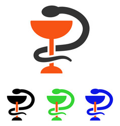 Snake cup flat icon vector