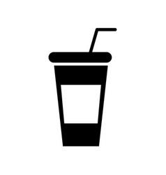 soda plastic cup icon vector image