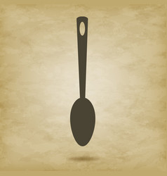 Spoon large icon vector