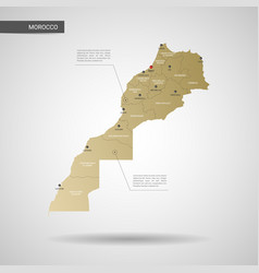 stylized morocco map vector image