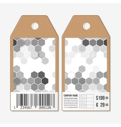 tags design on both sides cardboard sale vector image