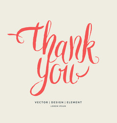 thank you modern hand drawn lettering phrase vector image