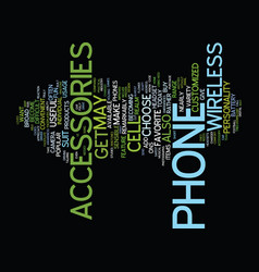 the most practical wireless accessories text vector image