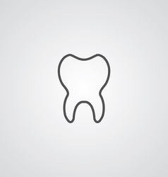 tooth outline symbol dark on white background logo vector image