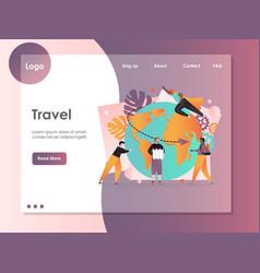 travel website landing page design template vector image