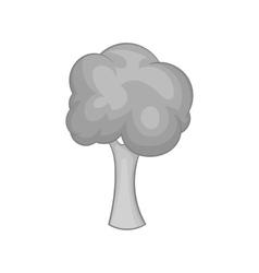 Tree icon black monochrome style vector image
