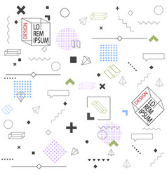 trendy seamless background geometric elements vector image