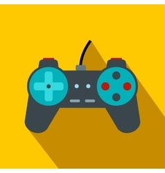 Video game controller flat icon vector