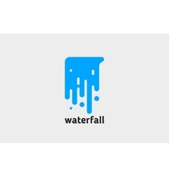 waterfall logo water logo creative logo design vector image