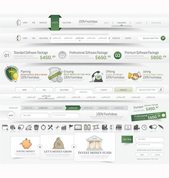 Web template navigation vector image