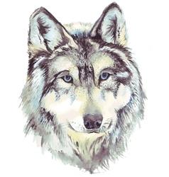 Wolf head profile vector