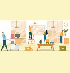 Workplace furnishing flat vector