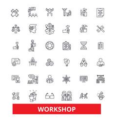 Workshop seminartraining conference garage vector