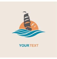 Yacht icon image vector
