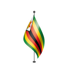 Zimbabwe flag on a white vector