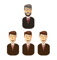 business team icon cartoon style vector image