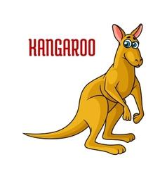 Cartoon kangaroo character vector