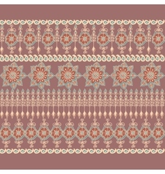 Decorative border in Indian style vector image