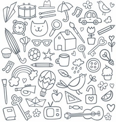 Doodle set vector image vector image