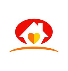 House love abstract logo vector
