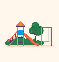 playground entertainment in form of swings park vector image