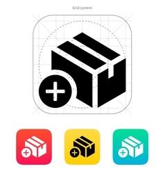 Add box icon vector image