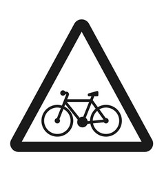 Bicycle and bike lane sign line icon vector