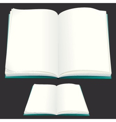 blank paper book for your text or design vector image vector image