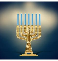 golden menorah vector image vector image