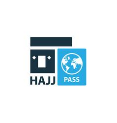 hajj colorful icon symbol premium quality vector image vector image